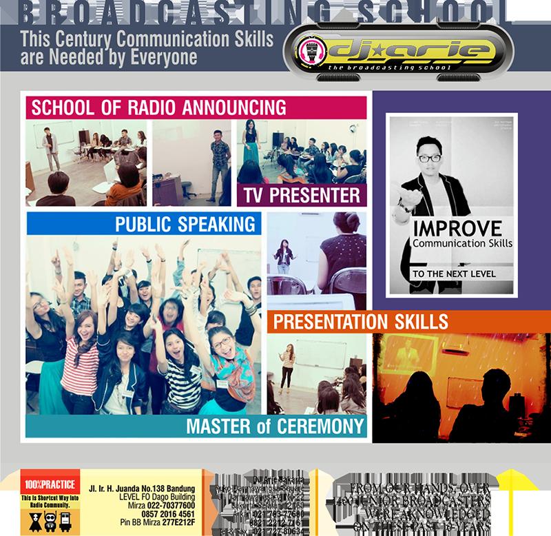 dj arie broadcasting school bandung